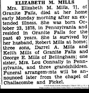 Obituary - Elizabeth M.Mills