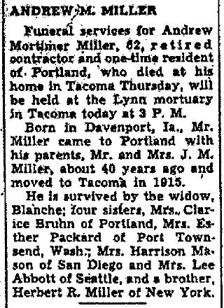 Portland Oregonian, 23 March 1940, p. 8, c. 2.