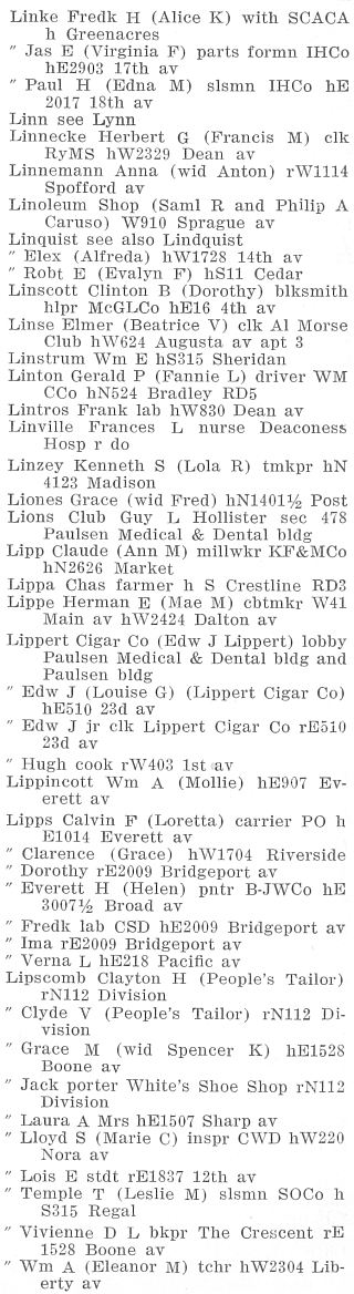 Polk's Spokane, Washington, City Directory, 1940, page 451