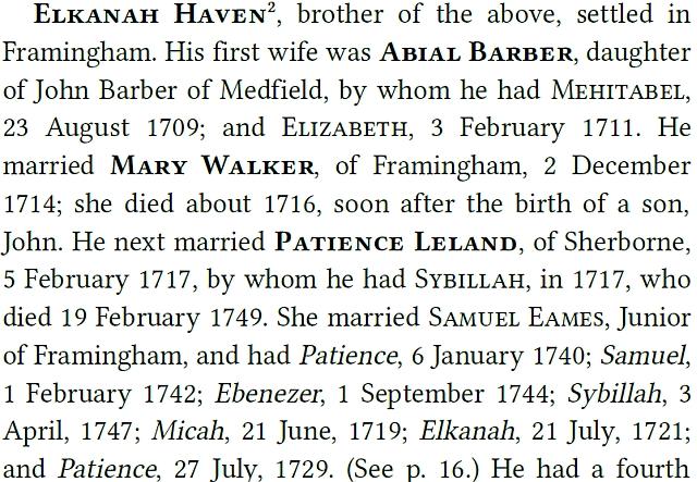 Haven Genealogy: After