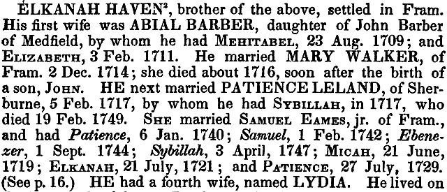 Haven Genealogy: Before