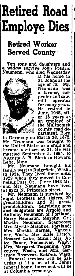The Oregonian, 1 September 1950, page 13