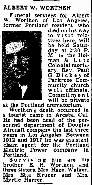 The Oregonian, 8 September 1945, page 7.
